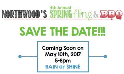 Northwood Spring Fling & BBQ - May 10 from 5-8 p.m. - rain or shine